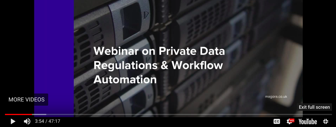 General data protection regulation webinar