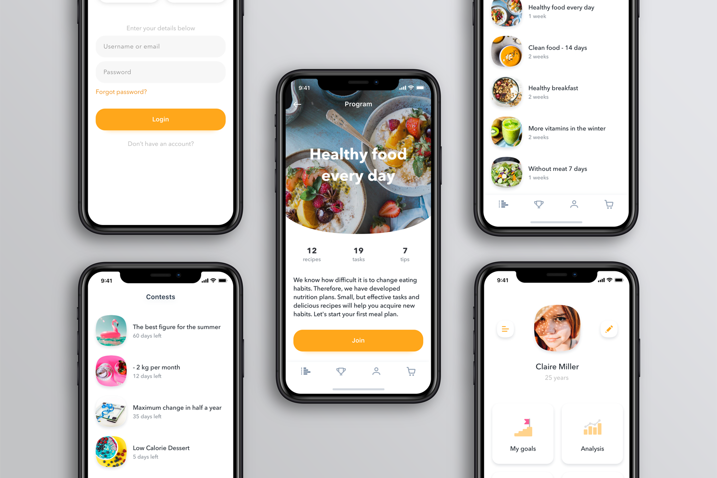 iOS interface examples by Magora