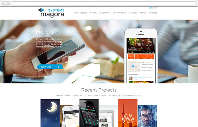 Website Magora Systems - 2015