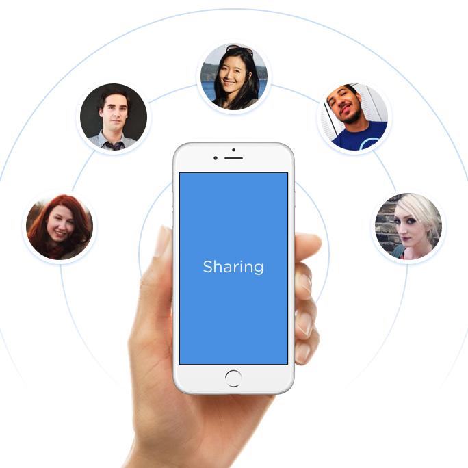 Social media sharing in apps