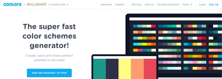 Color palette for your web design