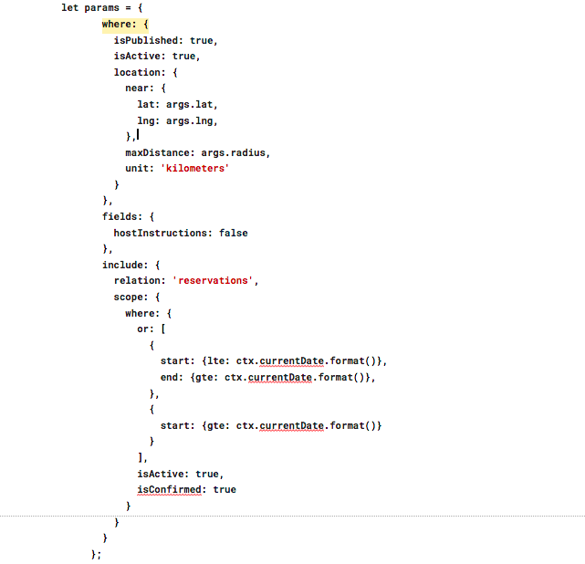 Example of the Magora Node.js code
