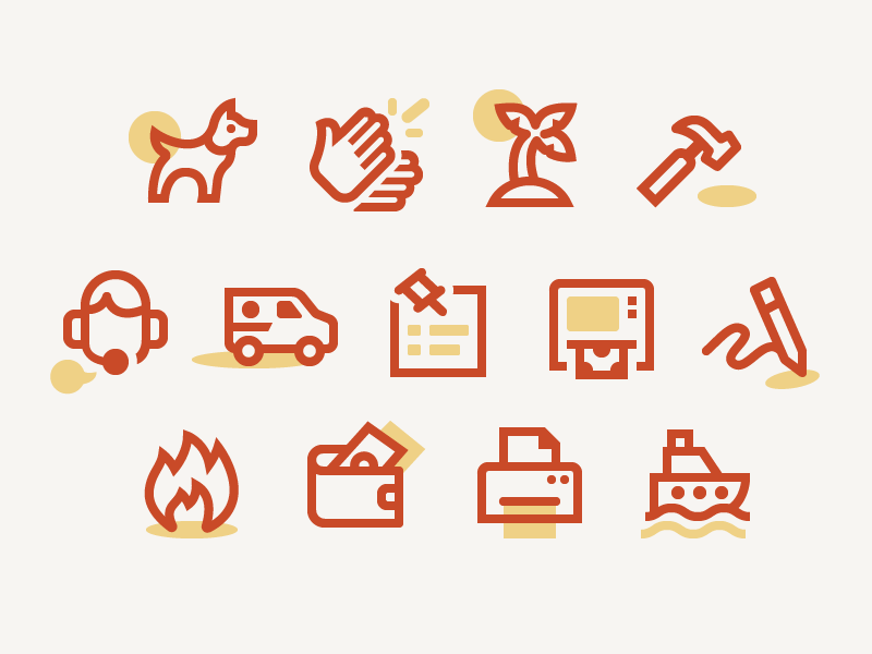 Examples of dutone icons