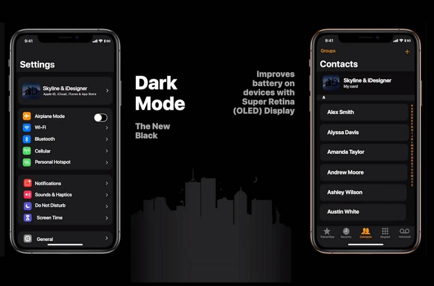 dark mode ios 13