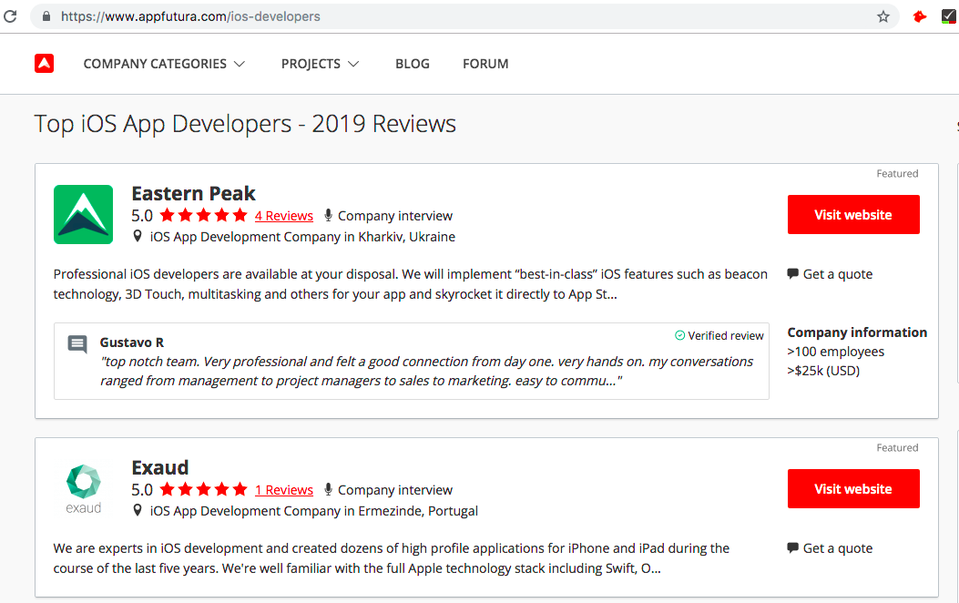 Mobile app development cost review 2019