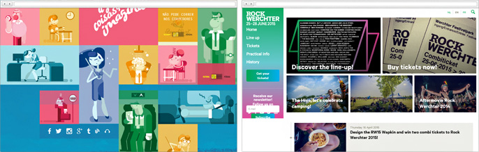 The new wave of web design is trendy color scheme