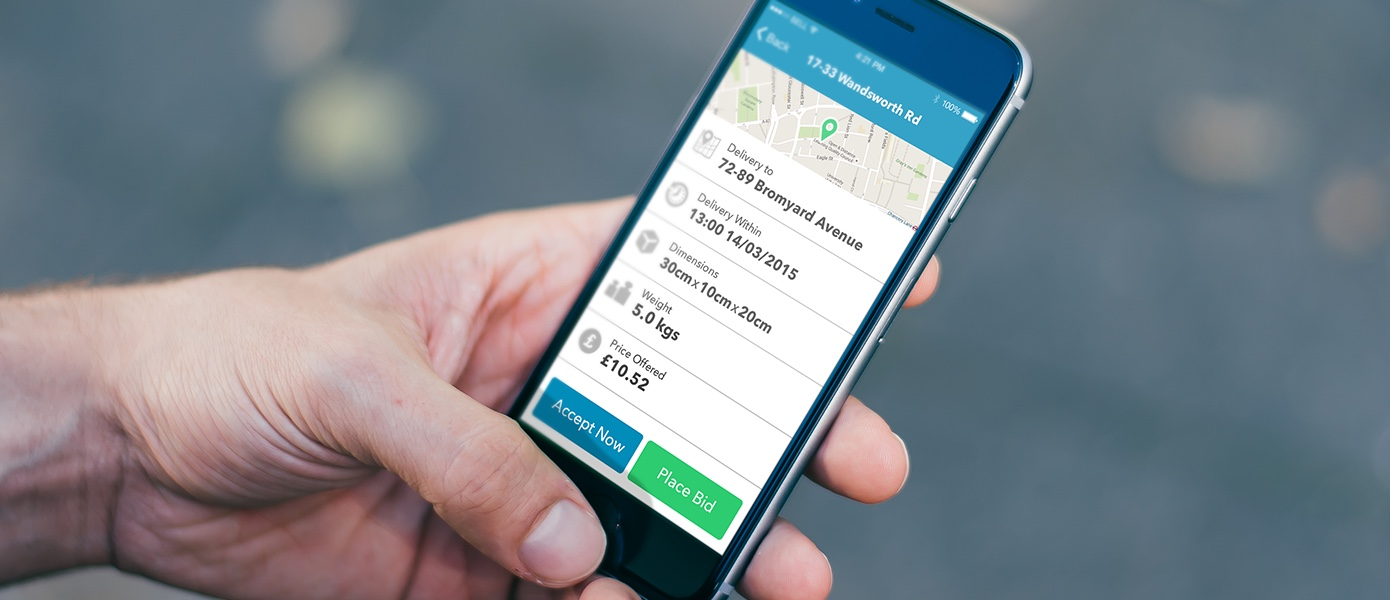 DMS - website and mobile app for UK courier company | Magora